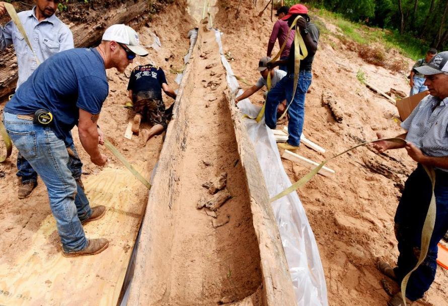 Canoe-excavation