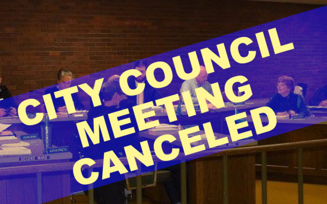 City Council meeting cancelled