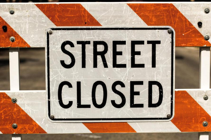 Street Closed A