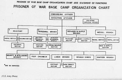 Organization outline for Prisoner of War Camps (US Army Archives)