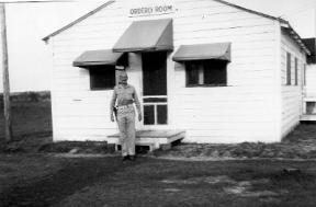 Orderly room for the US Army guards at the prisoner of war camp at Camp Polk, La. (Rickey Robertson Collection)
